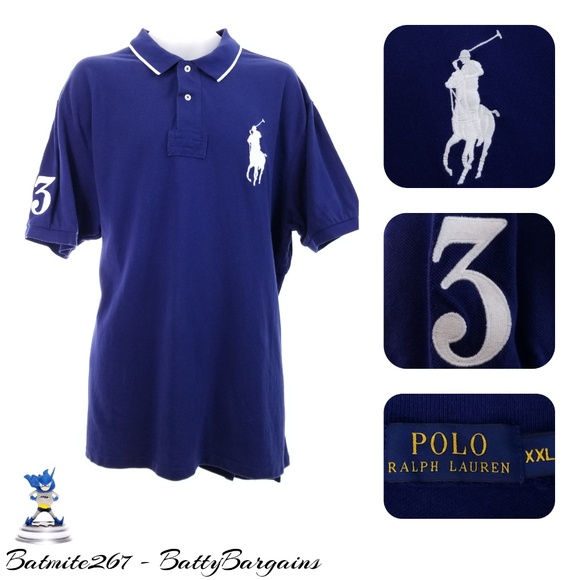 Polo by Ralph Lauren Other - 2XL PRL BIG Pony #3 Mens Rugby Shirt Navy Blue